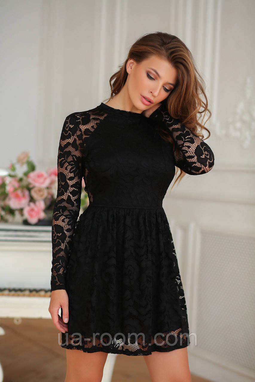 Женское гипюровое платье №419