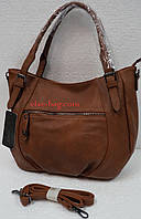Мягкая сумка на две ручки с карманом