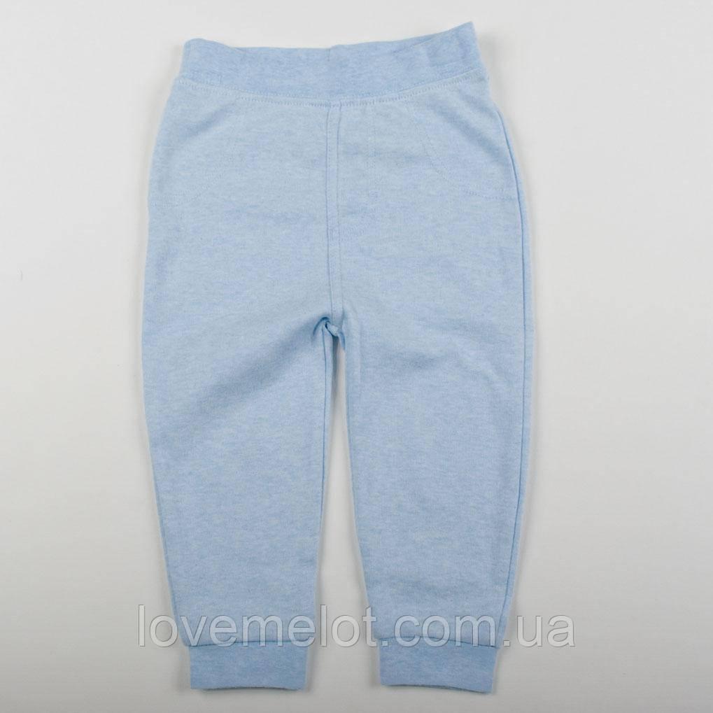 """Дитячі трикотажні штани для хлопчика бавовняні домашні George """"Пітер"""" блакитні на 80, 86 і 92см"""