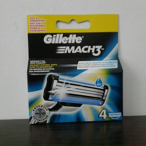 Кассеты мужские для бритья Gillette Mach 3 4 шт (  Жиллетт Мак 3 оригинал)