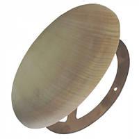 Заглушка вентиляционная для сауны, бани 100 мм  (липа), фото 1