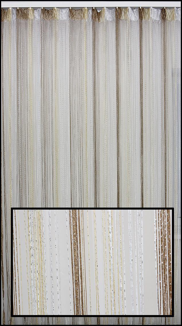 Купить шторы нити с люрексом 3мх3м