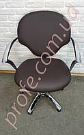 Парикмахерское кресло на гидравлической помпе ZD-338, коричневый, фото 1
