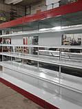 Торговые стеллажи б/у, металлический торговый стеллаж б у, стеллаж торговый б/у, фото 6
