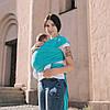 Трикотажный слинг-шарф АКВА Love&carry с рождения, голубой