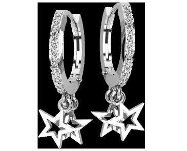 Серьги серебряные Звёзды 41217