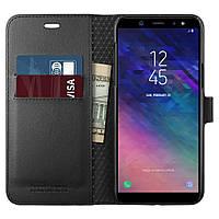 Книжка-Чехол Spigen для Samsung A6 (2018) Wallet S, Black  , фото 1