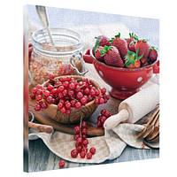 Картина на холсте Сочные ягоды 65х65 см (H6565_YM015)