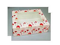 Коробка для кондитерских изделий 330х255х110 (с принтом письмо)