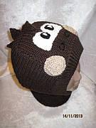 Зимний шлем  Дракоша (шоколад)