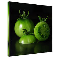 Картина на холсте Зелёный помидор 65х65 см (H6565_YM013)