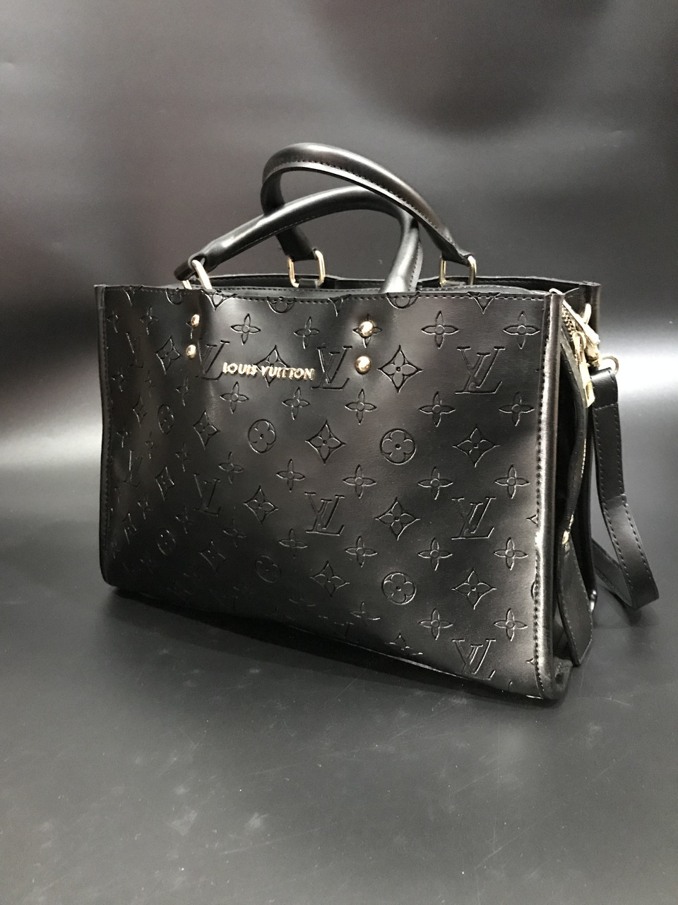 Сумка женская с ручками Louis Vuitton Monogram черная реплика высокого  качества 4a7eadfea36