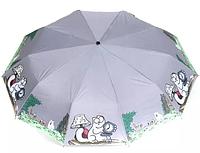 Женский зонт автомат Avk108-3 серый антиветер