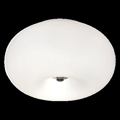 Потолочный светильник EGLO Optica 86811 2х60Вт Е27 опал/никель-мат.