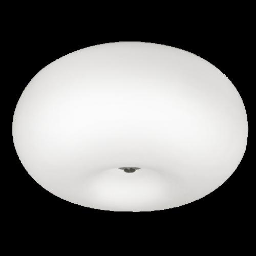 Потолочный светильник EGLO Optica 86812 2х60Вт Е27 опал/никель-мат.