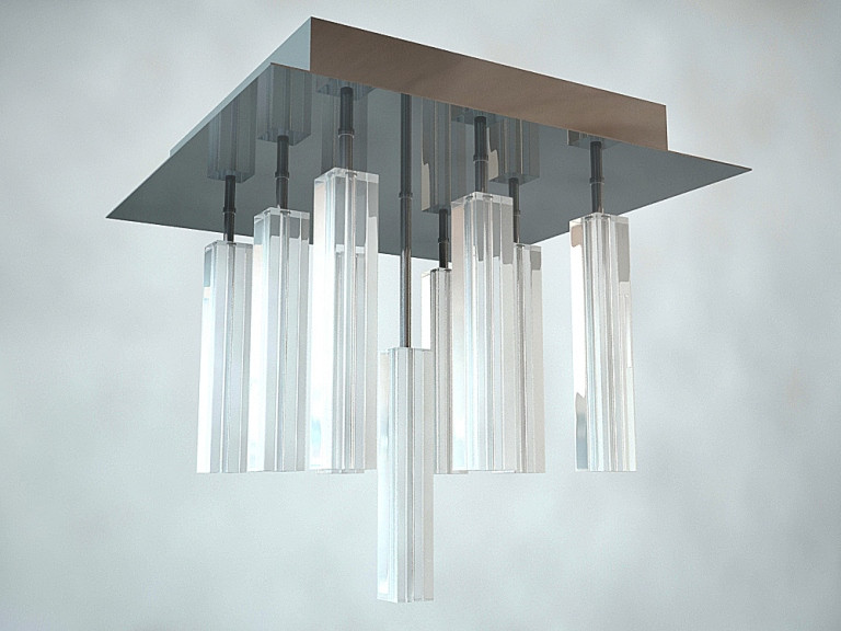 Потолочный светильник Illuminati Primavera MX4512-9A 9х20Вт G4 стекло/серебро