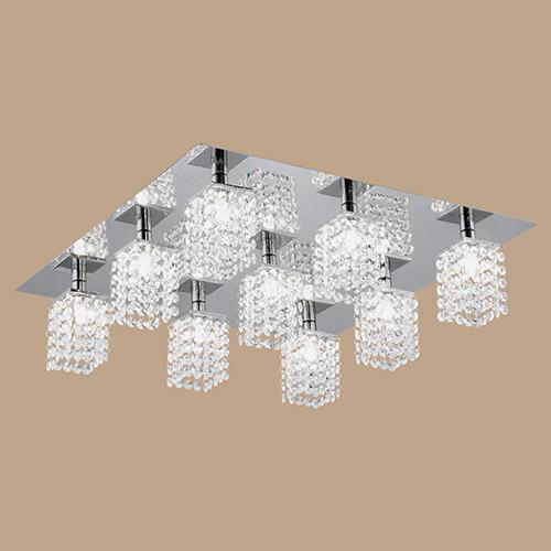 Светильник потолочный 89493 EGLO Pyton 9х40Вт G9 хрусталь/хром.