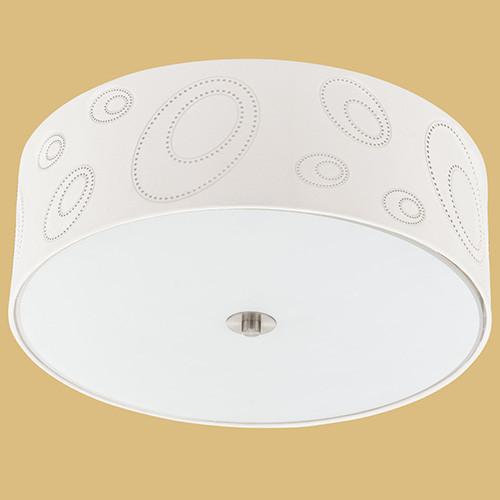 Светильник потолочный 90343 EGLO Indo 3х60Вт E27 металл/серебро