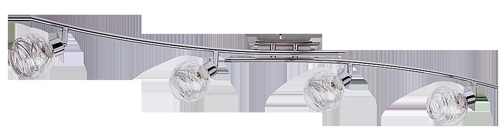 Спот Rabalux Bella 6018 4x40Вт G9 металл/серебро