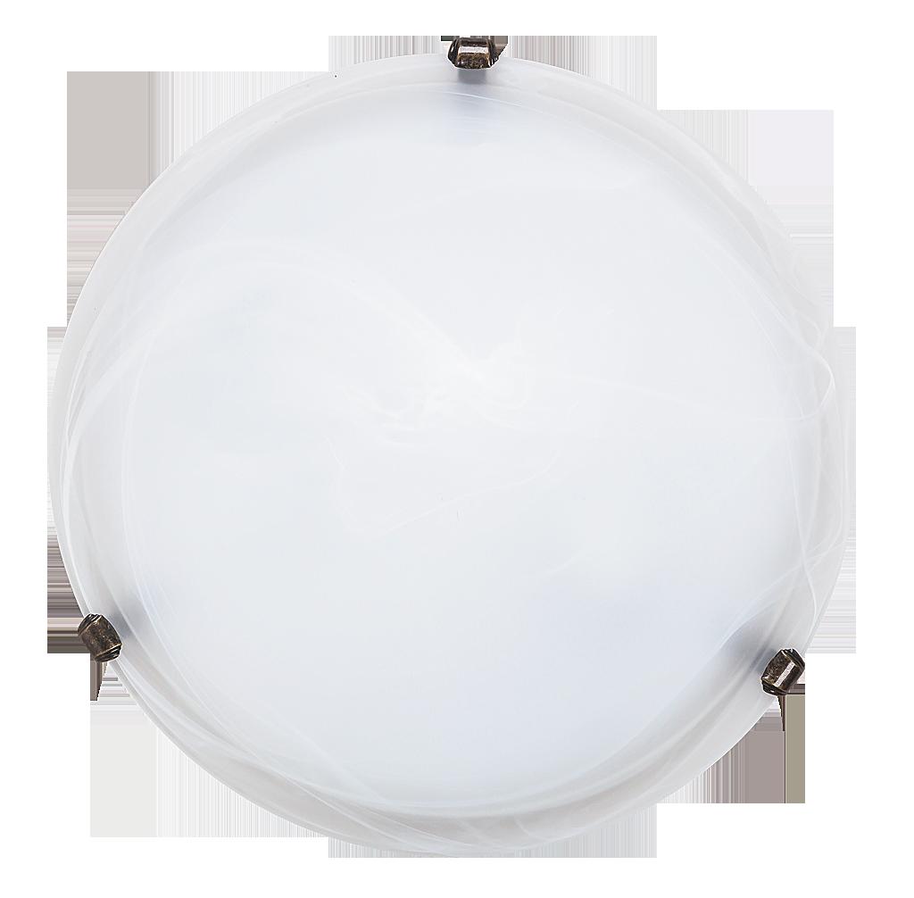Потолочный светильник Rabalux Alabastro 3303 2х60Вт E27 бронза/металл