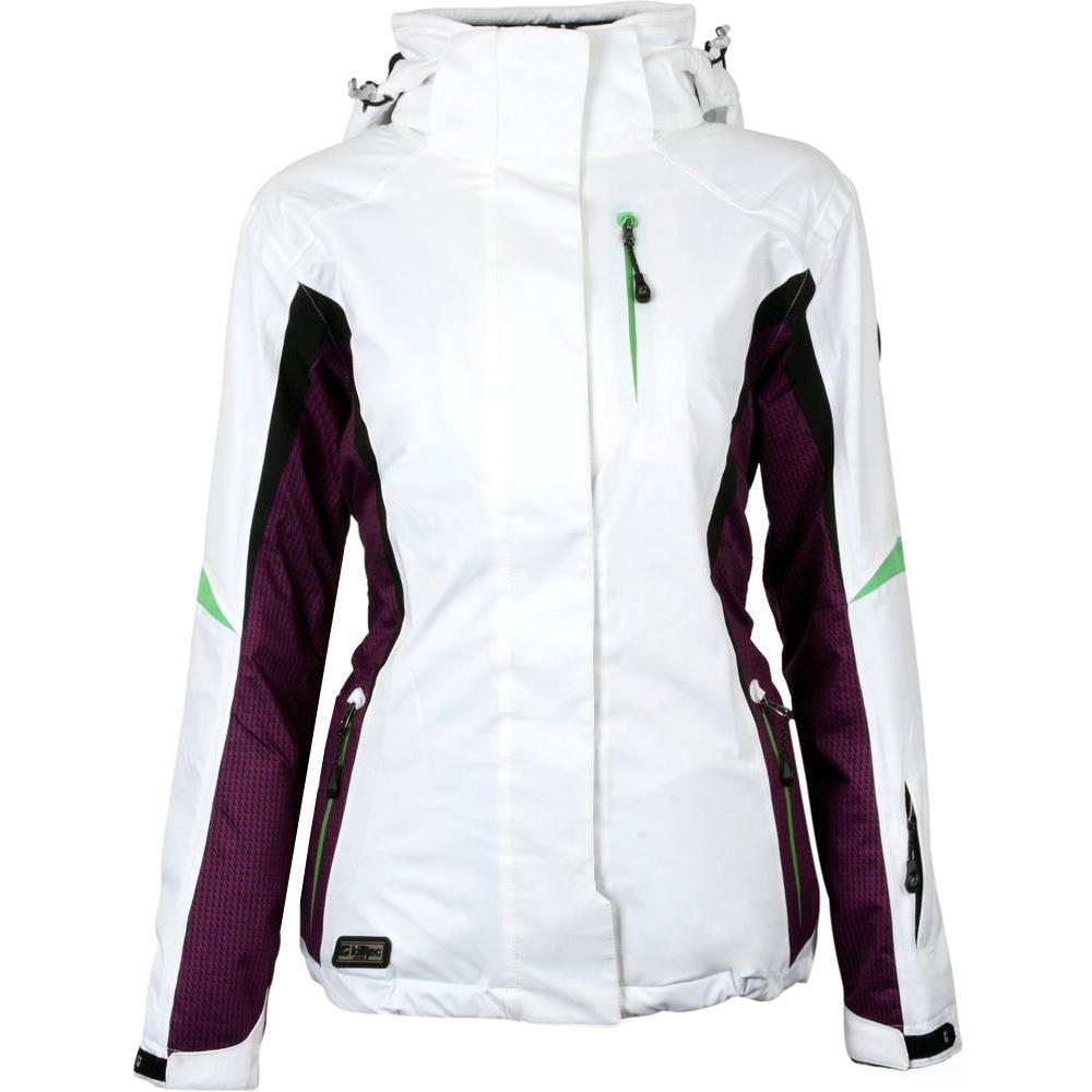Куртка женская лыжная Killtec 19121 (белая, лыжная, мембрана 8000, капюшон, водонепроницаема, бренд килтек)