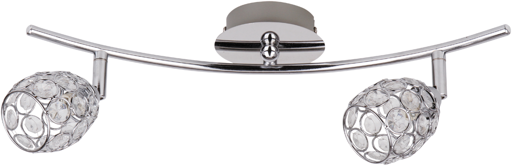 Cпот Rabalux Elle 6107 2x40Вт G9 металл/серебро