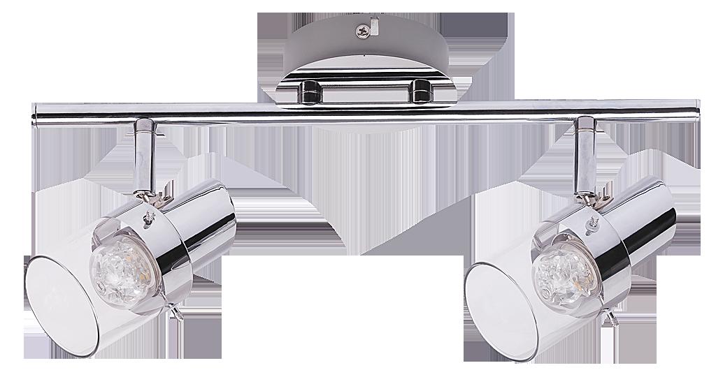 Спот Rabalux Dakota 6672 2x4.5Вт LED металл/серебро