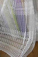 Тюль белые цветочки, фото 1