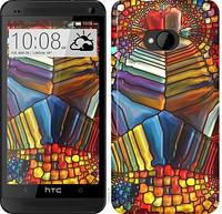 """Чехол на HTC One M7 Разноцветный витраж """"3343c-36-328"""""""