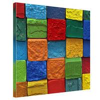 """Картина на холсте """"Цветные камни"""" 50х50см"""