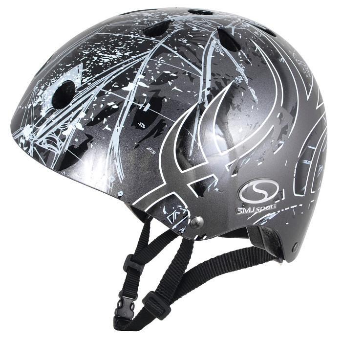 Шлем SMJ Sport Anarchy Metalic Silver (Польша) серый Киев. Магазин