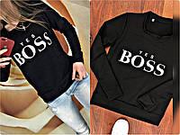 "Свитшот женский, свитшот ""Yes boss"" , разные цвета. Размеры: батал, норма, фото 1"