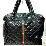 Стеганные женские сумки с полоской GUCCI (красный матовый)26*38см, фото 2