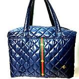 Стеганные женские сумки с полоской GUCCI (красный матовый)26*38см, фото 4