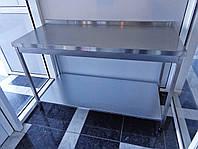 Производственный стол из нержавеющей стали с полкой из оцинковки 1500/600/850 мм, фото 1