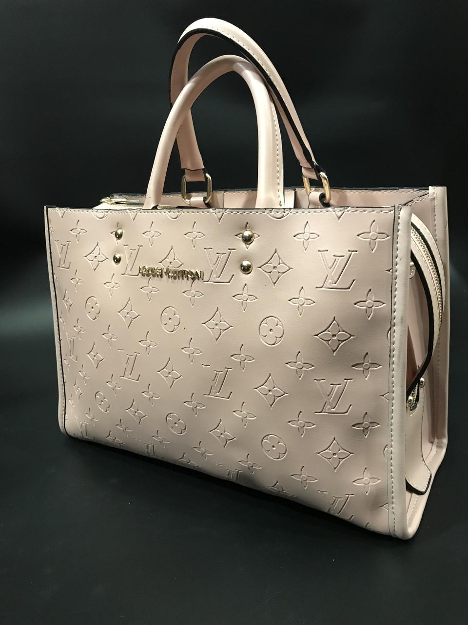 676092e758db Сумка женская с ручками Louis Vuitton Monogram пудра реплика высокого  качества