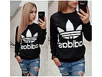 Свитшот женский, свитшот Adidas , разные цвета. Размеры: батал, норма, фото 1