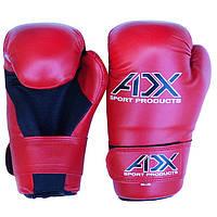Перчатки ADX таэквон-до ITF с открытой ладонью красные (материал Flex)