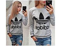 Свитшот женский, свитшот Adidas , разные цвета. Размеры: батал, норма