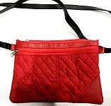 Стеганные женские клатчи-сумочки на 2 отдел. (бронза)17*24см, фото 2