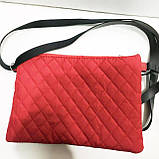Стеганные женские клатчи-сумочки на 2 отдел. (бронза)17*24см, фото 4