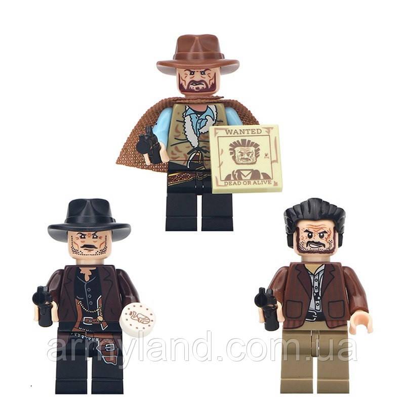 Фигурки ковбои, дикий запад, конструктор , аналог Лего, BrickArms