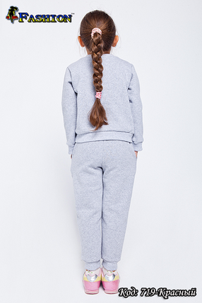 Спортивний костюм з вишивкою для дівчинки Україночка, фото 2