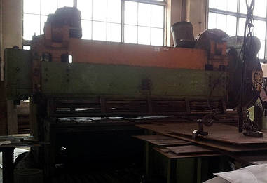 Рубка листового металла на гильотине  до 30мм