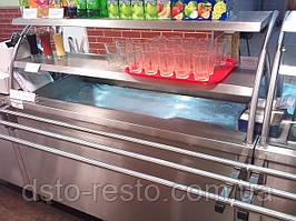 Прилавок для салатов 1000/700/1800 мм, две полки