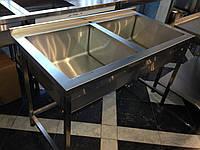 Ванна моечная из нержавеющей стали AISI 304 1200/600/850 мм, фото 1