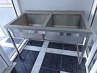Ванна моечная 2-х секц. с бортом 1000/600/850 мм, фото 1