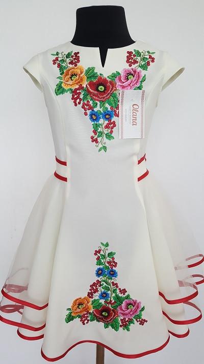 Вишите плаття для дівчинки  Діана 1 молочне - Nikashop в Киеве 6d4eed5083b61