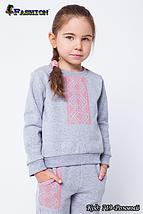 Спортивный костюм с вышивкой для девочки Украиночка, фото 2