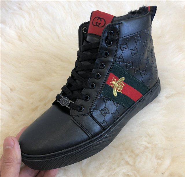 7f98bd6c Кроссовки мужские Gucci D4739 черные высокие зимние - купить по ...